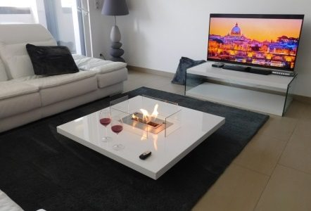 Ethanol Fireplace Table LOU