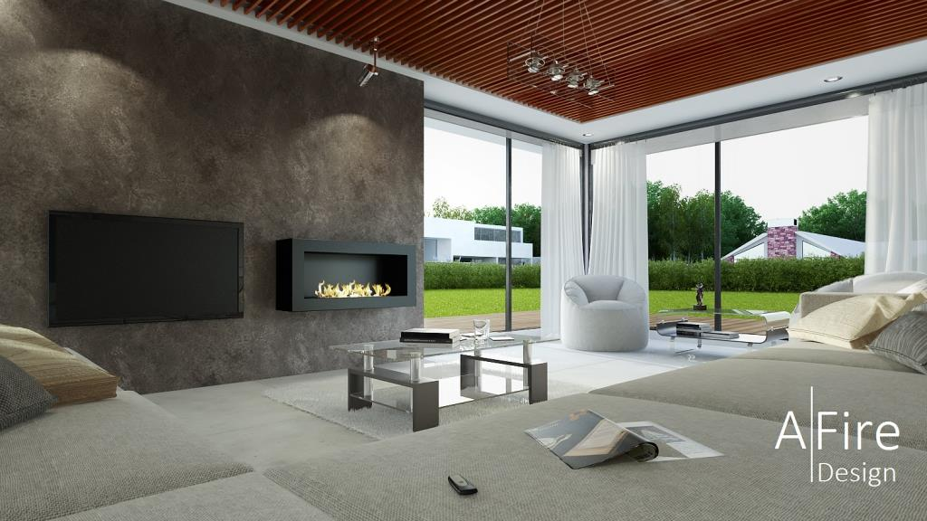 Smart Bio Ethanol Fireplace With Remote Control AFIRE