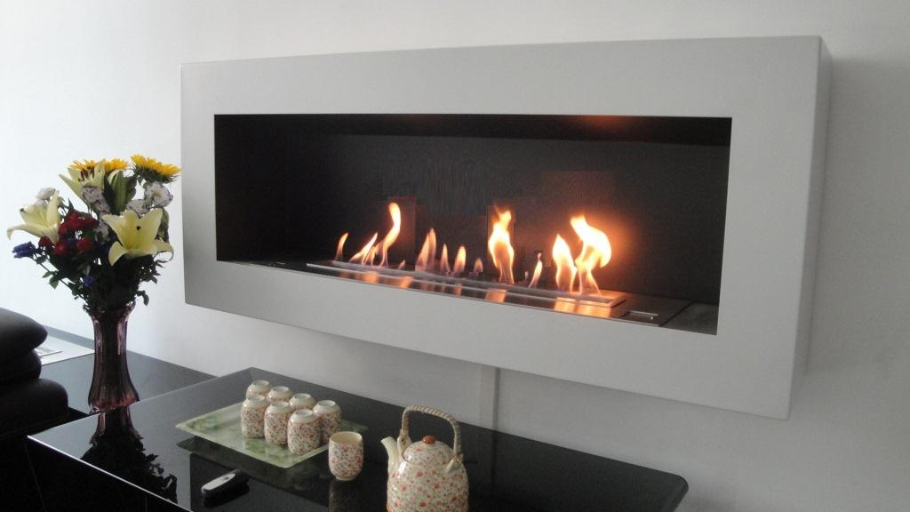 Smart ethanol fireplace with remote control safety for Cheminee decorative murale electrique