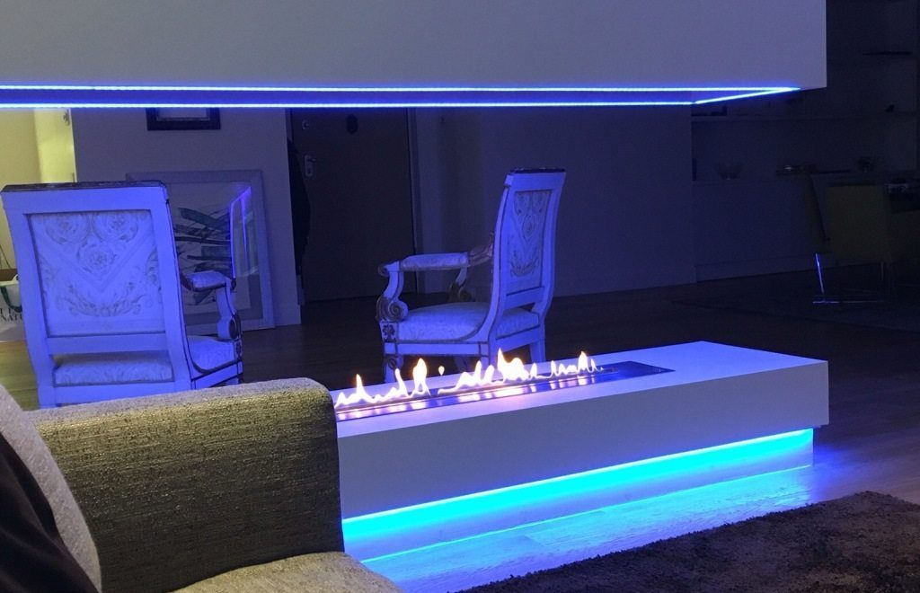Smart and design remote controlled ethanol burner insert