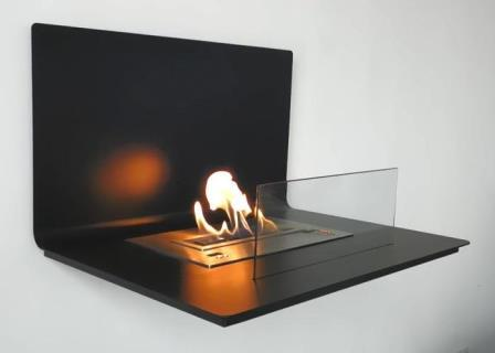 Smart bio fireplace with remote control LOFT BLACK