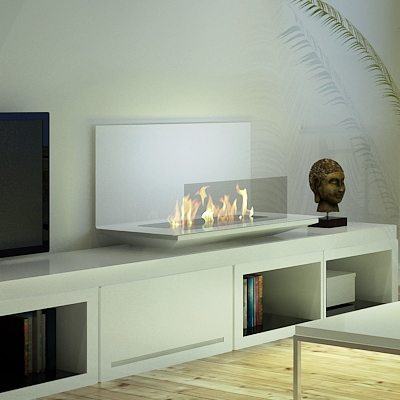 afire ein designter clever bio ethanol wandkamin. Black Bedroom Furniture Sets. Home Design Ideas