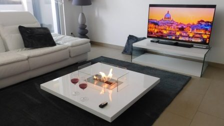 TV Fireplace Table