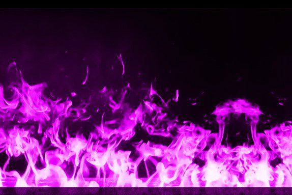 Water vapor fireplace violet color cold flames