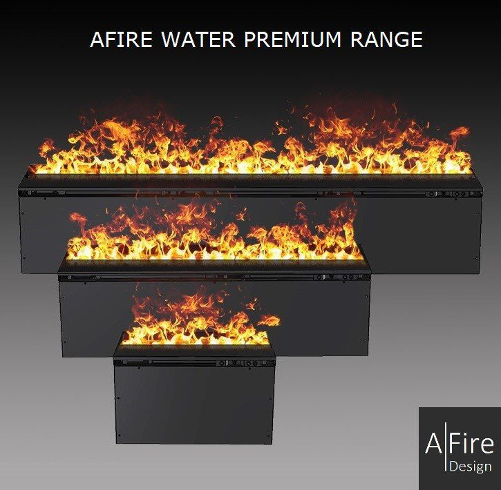 Water vapor fireplace with colored flames AWP range