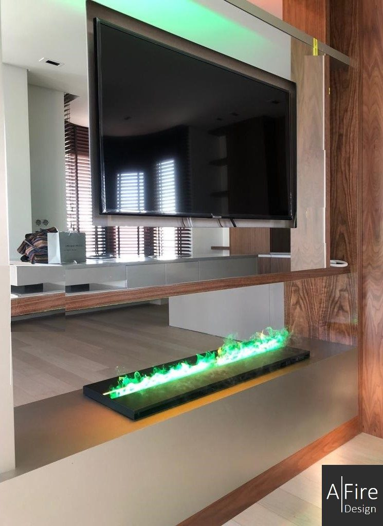 Eco-friendly water vapor fireplace